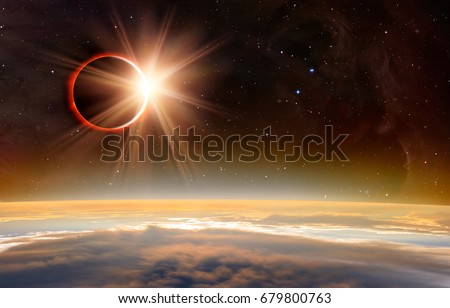 """Solar Eclipse """"Elements of this image furnished by NASA """" #679800763"""