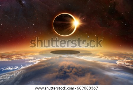 "Solar Eclipse ""Elements of this image furnished by NASA "" #689088367"