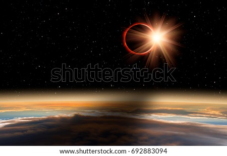 "Solar Eclipse ""Elements of this image furnished by NASA "" #692883094"