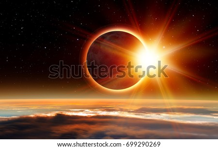 "Solar Eclipse ""Elements of this image furnished by NASA "" #699290269"