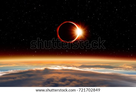 """Solar Eclipse """"Elements of this image furnished by NASA """" #721702849"""