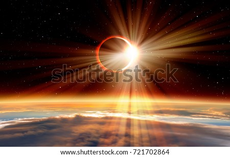 """Solar Eclipse """"Elements of this image furnished by NASA """" #721702864"""
