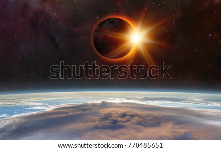 """Solar Eclipse """"Elements of this image furnished by NASA """" #770485651"""