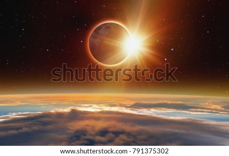 """Solar Eclipse """"Elements of this image furnished by NASA """" #791375302"""
