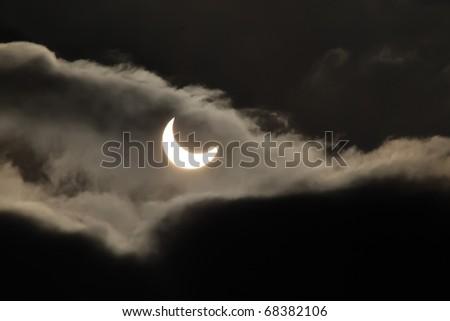solar eclipse 4 january 2011,Jastrzebie Zdroj, Poland