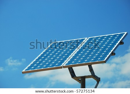 Solar Energy Collector on sky
