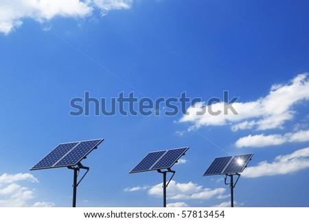 Solar Energy Collector on sky