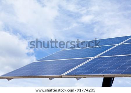 solar energy panel - stock photo