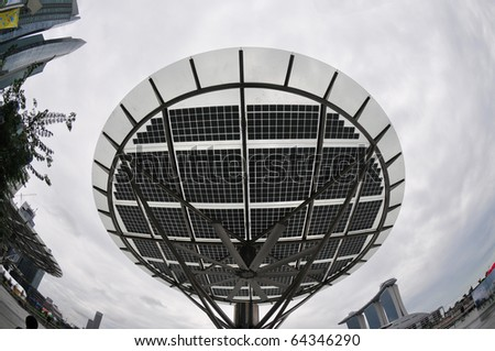 solar energy panel installed at the city