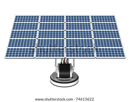 Solar energy panel on a white background.
