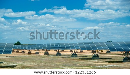 Solar field in sunny Spain