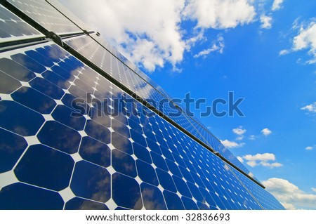 solar installation with sky