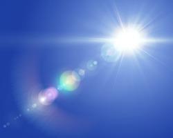 Solar lens flare