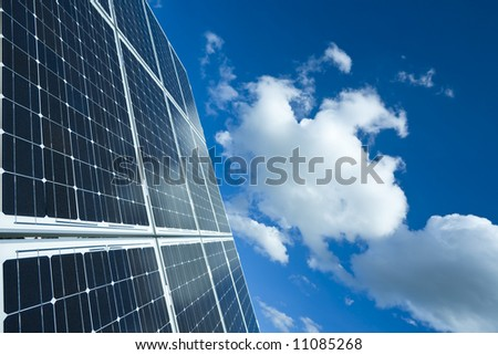 Solar Panel Against Blue Sky