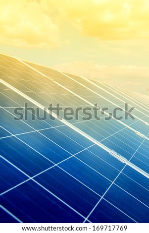 solar panel and renewable energy