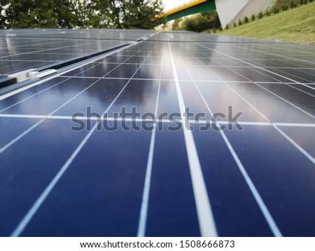 Solar panel close up photo Zdjęcia stock ©