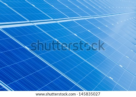 Solar panel detail abstract - renewable energy source.