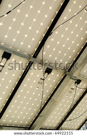 Solar panel installation, work, photovoltaic energy