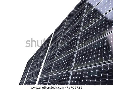 solar panel isolated on white background