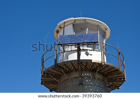 Solar panel on a lighthouse