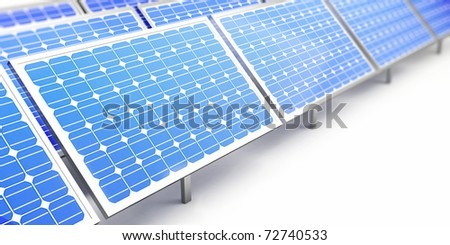 solar panel on a white background