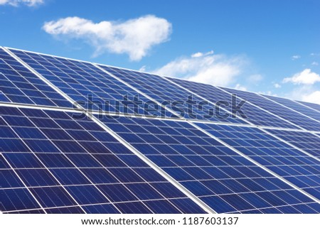 Solar panel, photovoltaic, alternative electricity source - concept of sustainable resources #1187603137