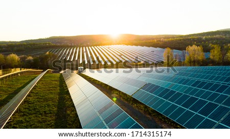 Photo of  Solar panel, photovoltaic, alternative electricity source - concept of sustainable resources