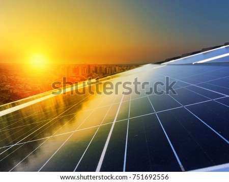 Solar Panel Photovoltaic installation on a Roof, alternative electricity source - Concept  Image of Sustainable Resources #751692556