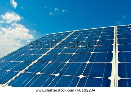 solar panel power production green economy