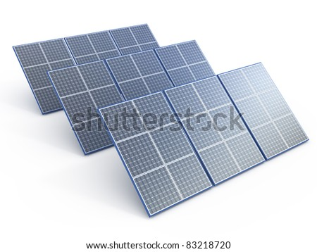 Solar Panel. Renewable energy concept on white
