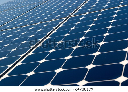 Solar panel technology background, sun energy, green power