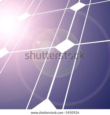 Solar panel with intense lighting