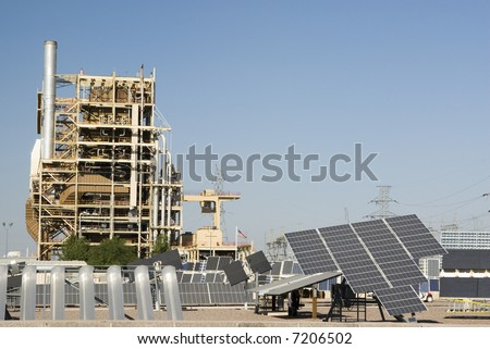 solar panels at a Solar Research Center in Phoenix Arizona