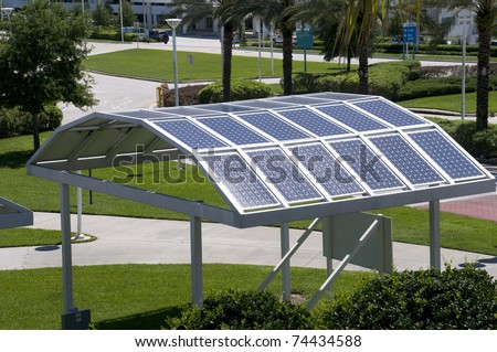 Solar Panels at Convention Center in Florida.