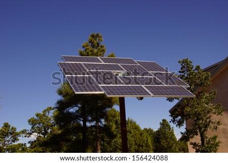 Solar panels at the Visitors Center of the South Rim, Grand Canyon National Park, Arizona