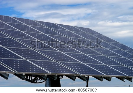solar panels collecting energy from the sun