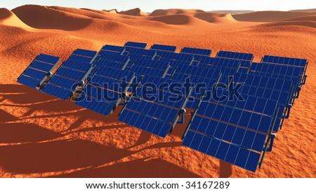 Solar Panels Desert