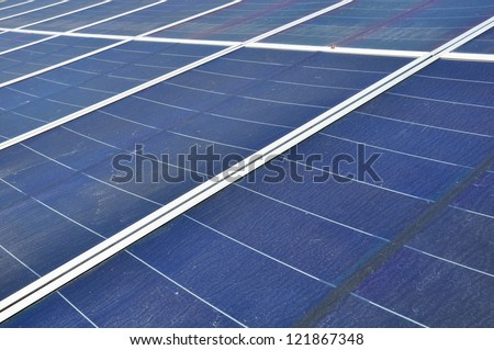 Solar panels field for renewable energy production