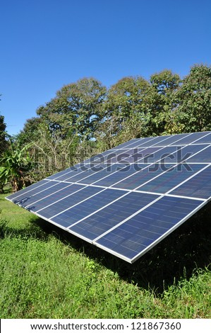 Solar panels field for renewable energy production