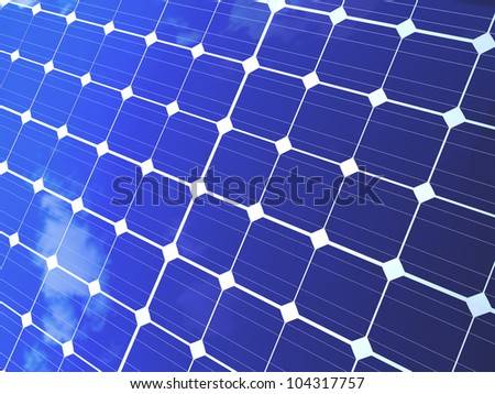 Solar panels for alternative and ecological energy background.