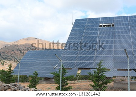 Solar panels . Greece. Crete island