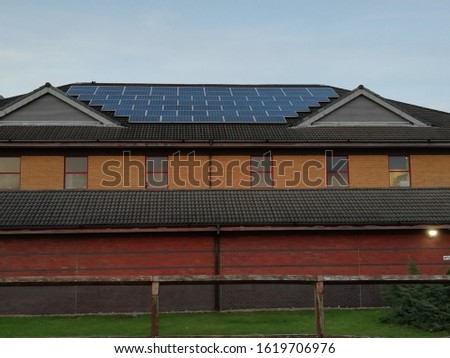 solar panels, house solar panels, solar panels on the rooftop