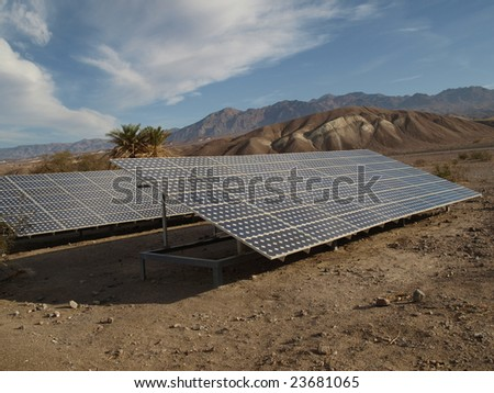 Solar panels in Death Valley 1