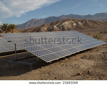 Solar panels in Death Valley 2