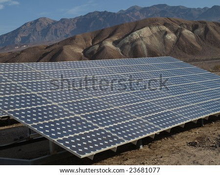 Solar panels in Death Valley 5 - stock photo