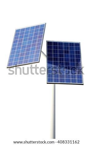 Solar panels isolated on white background #408331162