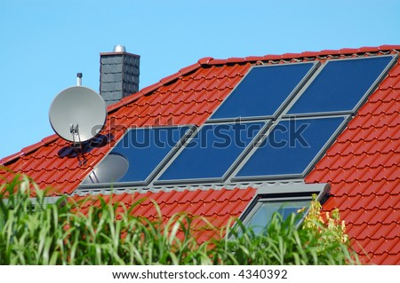 Solar panels on a new roof