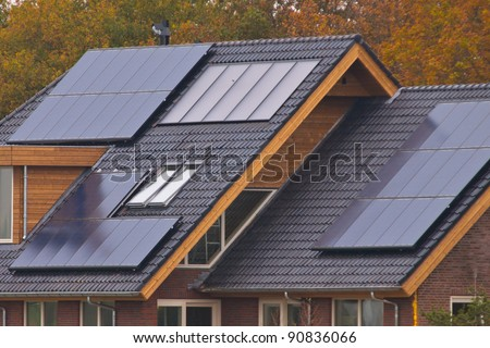 Solar panels on newly build house
