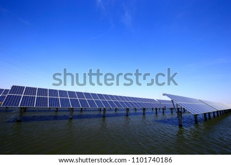 Solar panels on the water #1101740186