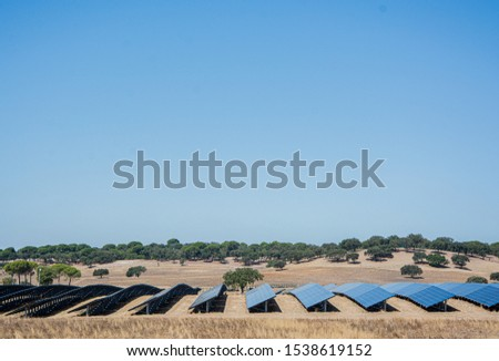 solar panels or panels installed in the field
